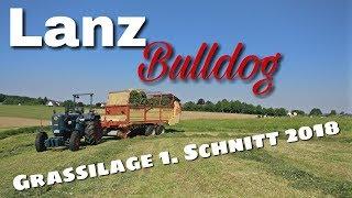 Lanz Bulldog mit Silierwagen - Grassilage 2018 [D6516]