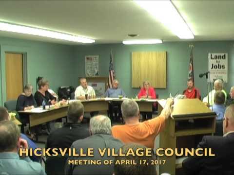 Hicksville Village Council Meeting 4-17-17
