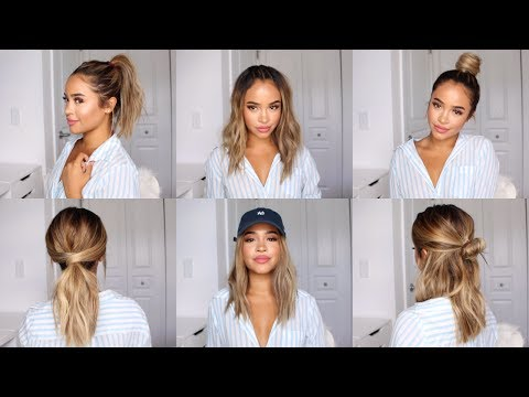 CUTE AND EASY HAIRSTYLE IDEAS FOR SCHOOL! | Maria Bethany