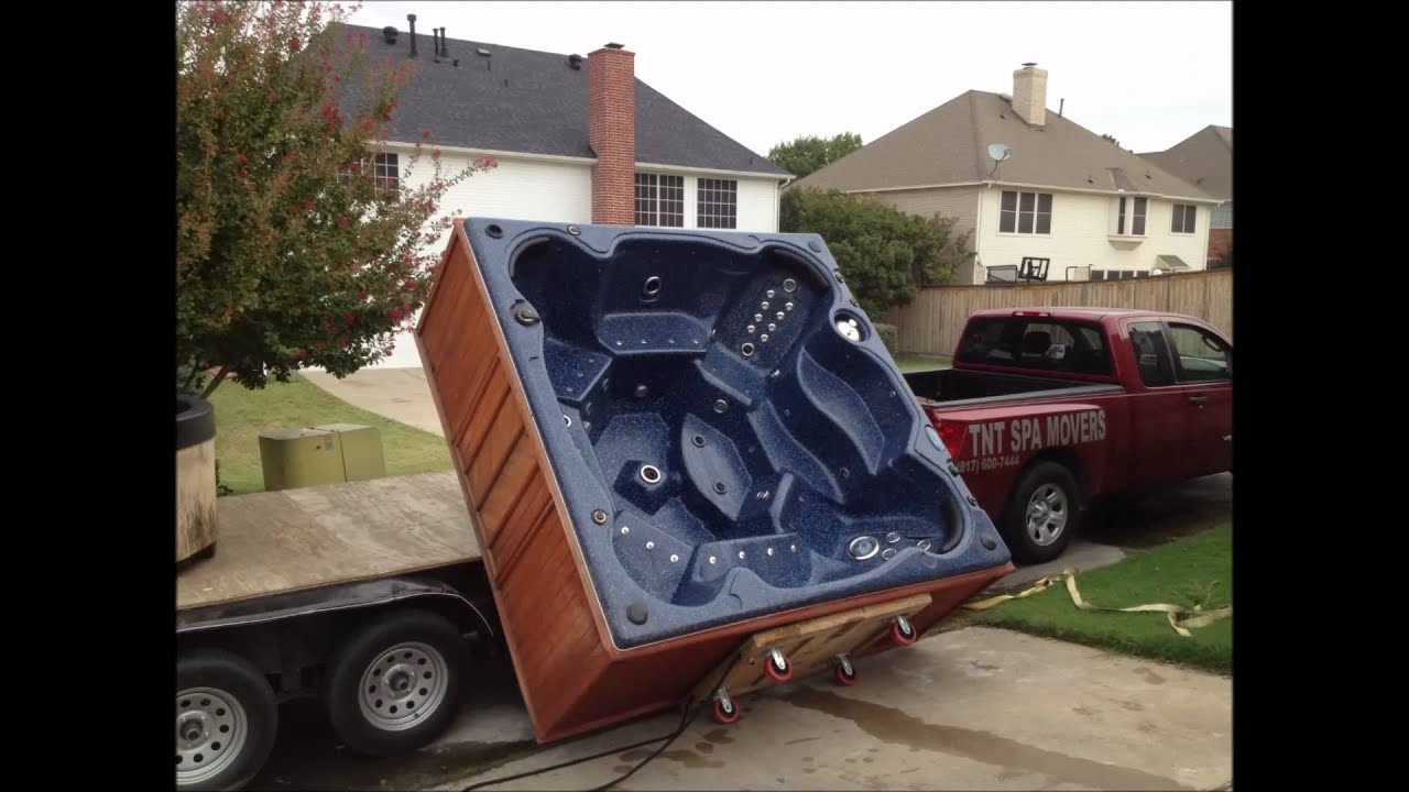 How To Move A Hot Tub Spa Tnt Spa Movers Hot Tub