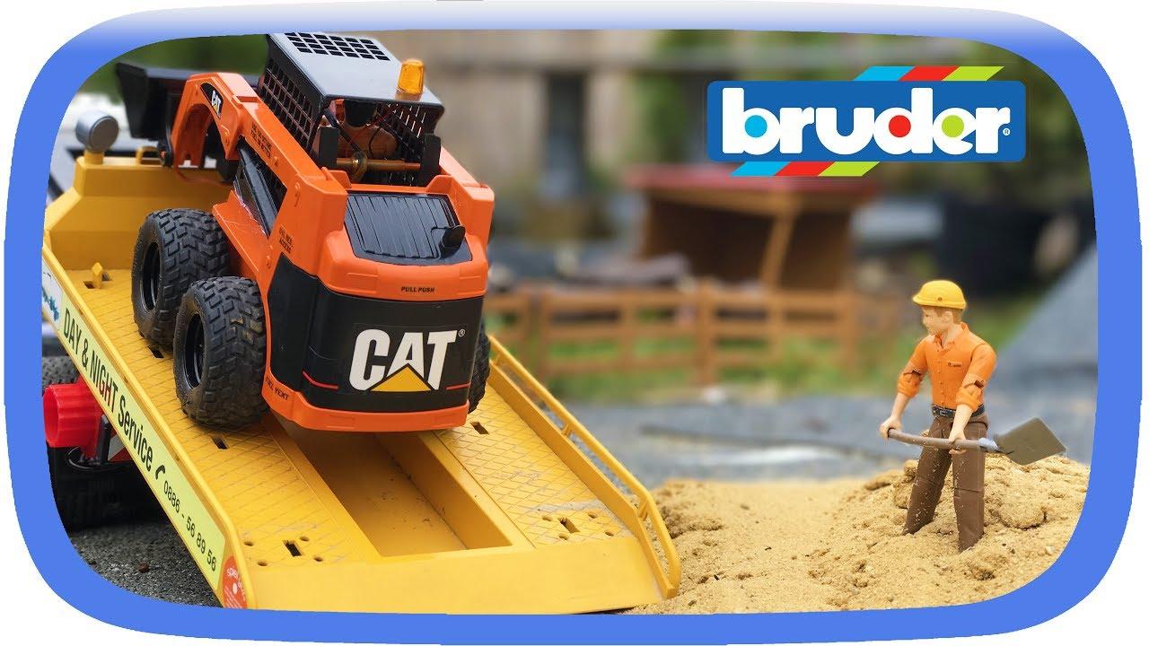 Download Construction RC models: unique BRUDER CATERPILLAR Skid Steer Loader BOBCAT