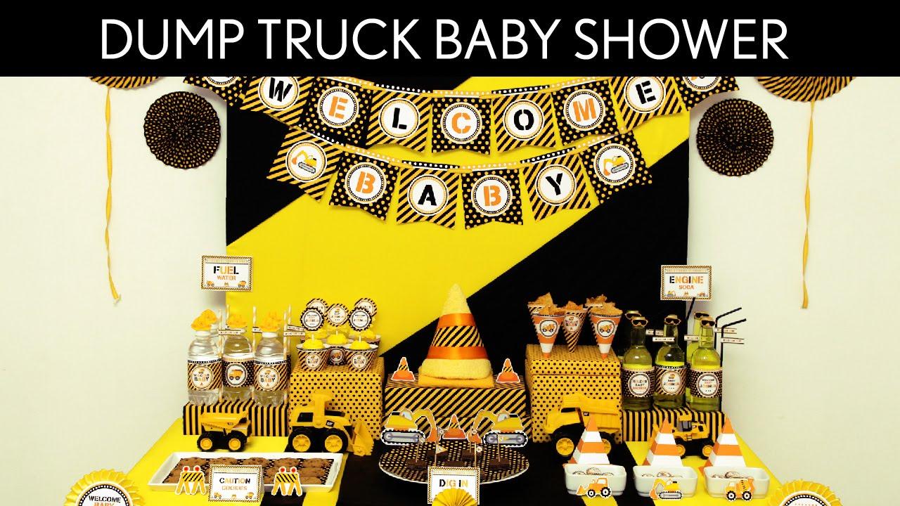 dump truck birthday party ideas dump truck s36 youtube