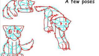 How to draw wolves!