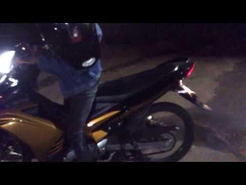 RamaBoy trying to burnout With New Yamaha Jupiter MX 5 Speed