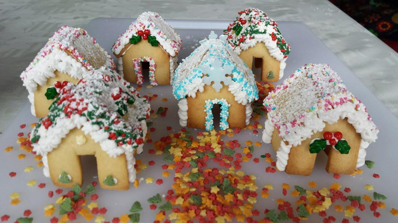 C mo hacer galletas de casitas navide as gingerbread - Casitas de navidad ...