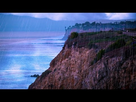Thunderstorm & Ocean Sounds | Rain White Noise for Sleep or Studying | 10 Hours