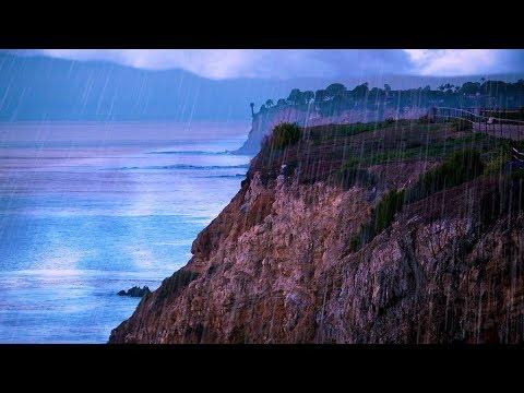 Thunderstorm & Ocean Sounds | Rain White Noise for Sleep or Studying | 10  Hours