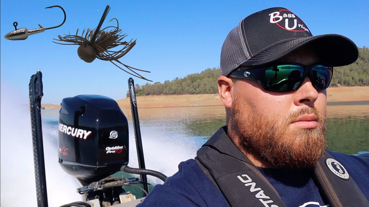 How to Rig a Darter Head Worm for Bass & My Finesse Football Jig Setup | A Quick Lake Oroville Trip