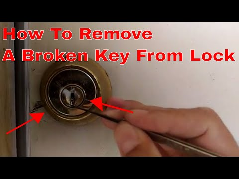 How To Pull Remove A Broken Key And Make A Key Funnydog Tv