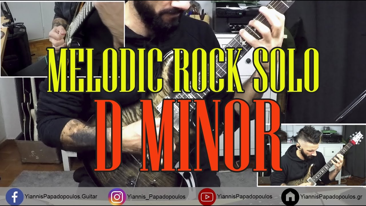 Melodic rock D minor solo & analysis