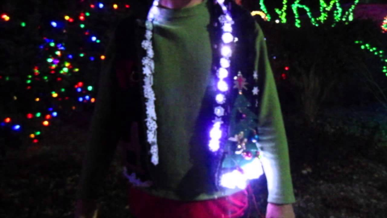 A Christmas Light Display on an Ugly Sweater! - YouTube