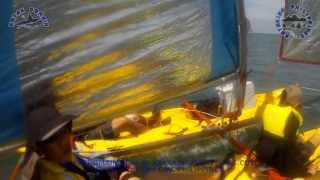 Squire Kayak Catamaran Sail version 3, 1st test, 1 November 2013