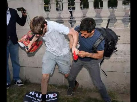 Donald Trump State Visit Protests Turn Nasty As Fights Break Out Near Buckingham Palace