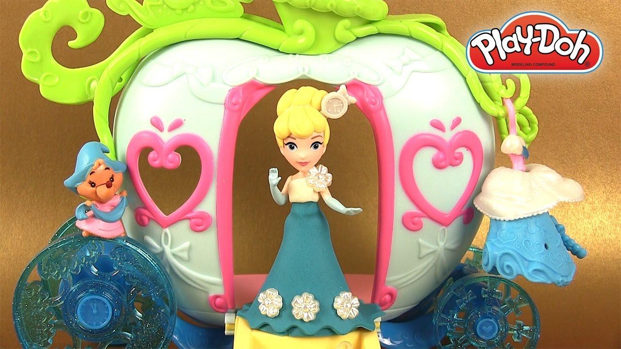 P te modeler play doh princesse cendrillon et carrosse - Cendrillon et son carrosse ...