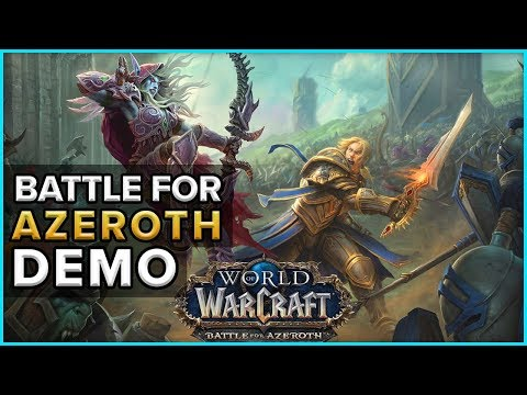 Battle For Azeroth Demo Blizzcon 2017