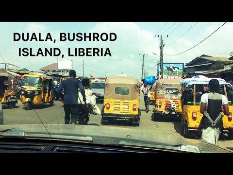 DRIVING Through DUALA, BUSHROD ISLAND | Liberia | SheaMoringaTV