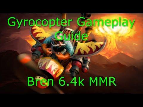 Dota 2 Gyrocopter Guide: 6.4K MMR - Safe Lane Guide - Farming Techniques PRO