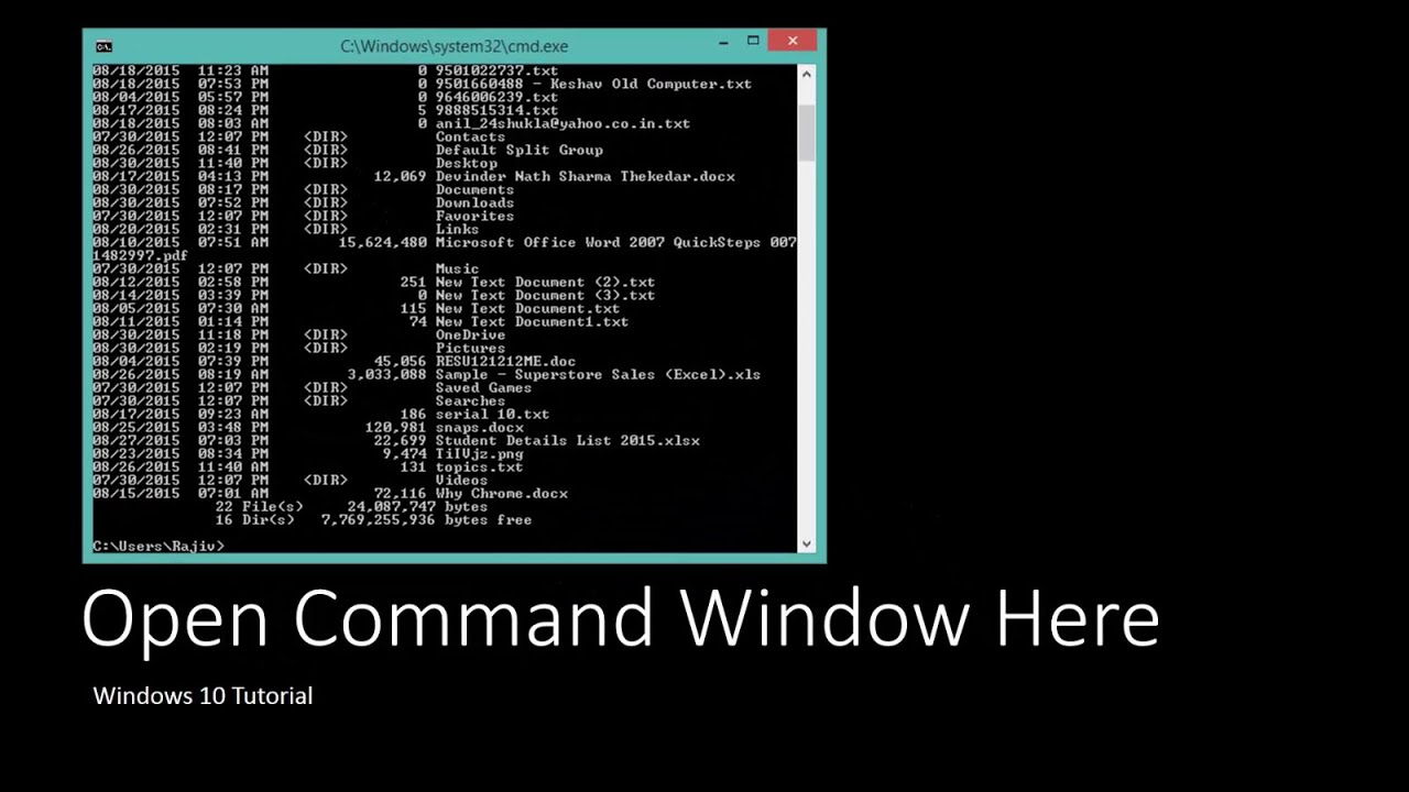 open command prompt here windows 10 as administrator