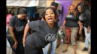 Mide Martins Iyabo Ojo Jaiye Kuti Owner of Zanzee boutique came out to dance one by one