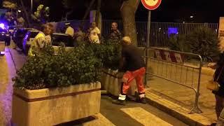Sicurezza antiterrorismo a Barletta, prove posizionamento barriere
