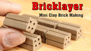 BRICKLAYING: How to make Bricks for buildings