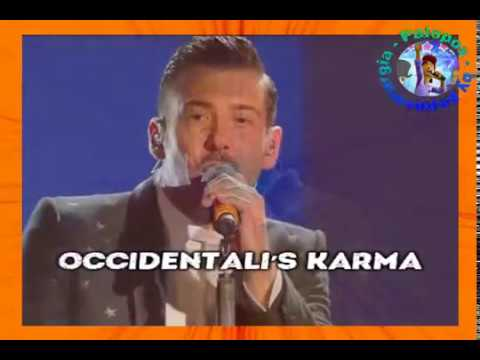 Francesco Gabbani - Occidentali's karma (karaoke - fair use)
