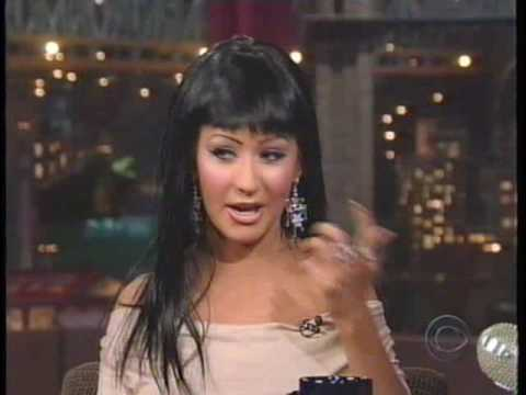 Christina Aguilera on Letterman '04
