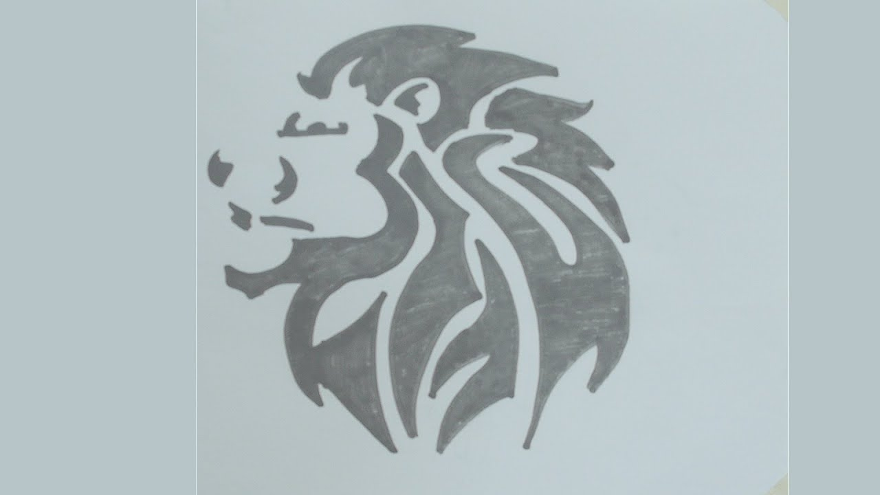 Simple Tribal Lion Tattoo Designs