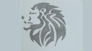How to draw lion head tattoo #1