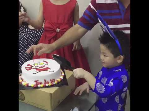 Ultraman Cake Birthday Party Of Le Xi Youtube