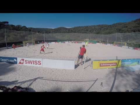 Beach soccer: Estonia - Switzerland 7:10 | Game 2 Giverola 14.04.2017