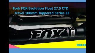 FORK FOX EVOLUTION FLOAT 275 CTD TRAVEL 100MM TAPPERED SERIES  32