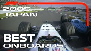 Kimi's Charge, Alonso At 130R And More | Emirates Best Onboards | 2005 Japanese Grand Prix