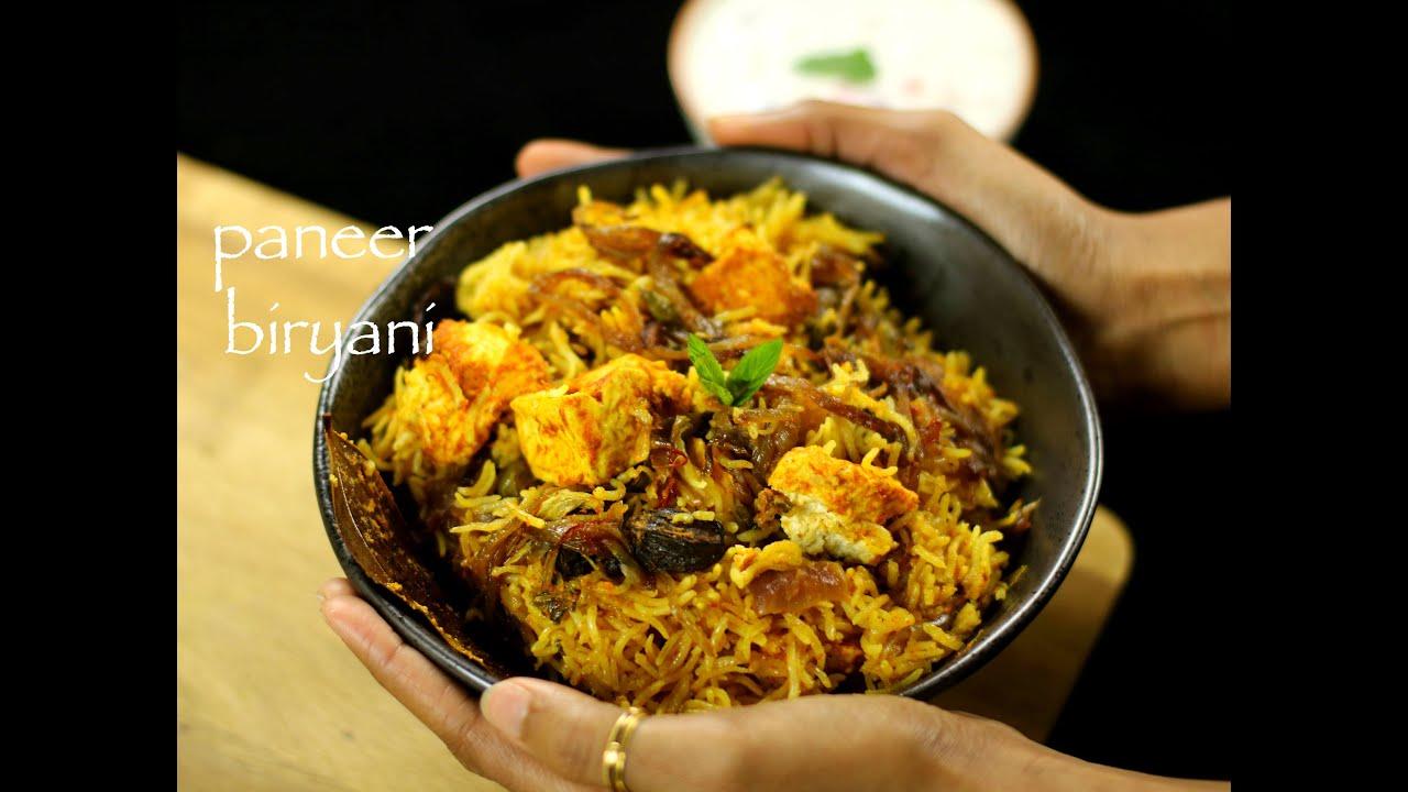 paneer biryani recipe   easy paneer biryani recipe - YouTube