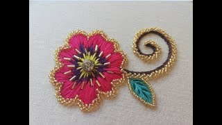 hand embroidery Embroidery with normal thread and beads