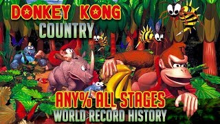 Speed Docs: Donkey Kong Country - Any% All Stages Speedrunning World Record History
