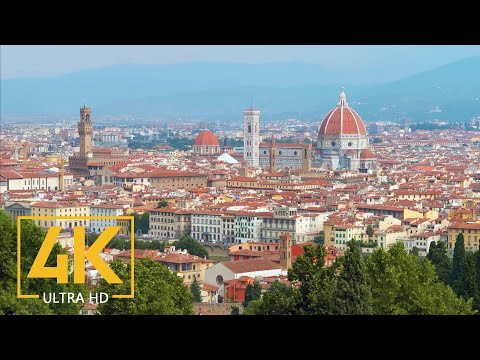 Florence, Italy in 4K UHD - City Live Video - Most Popular Sightseeing Places