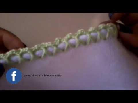 Como fazer caseado de crochê em ponto cruzado