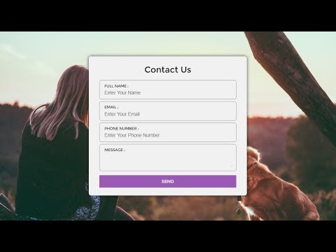 Responsive Contact Us Form Using Only Html Css Youtube