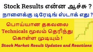 நாளைக்கு டிரேடிங் ஸ்டாக் எது ?| Stock Market Result Updates and Reactions| Tamil Share | Intraday