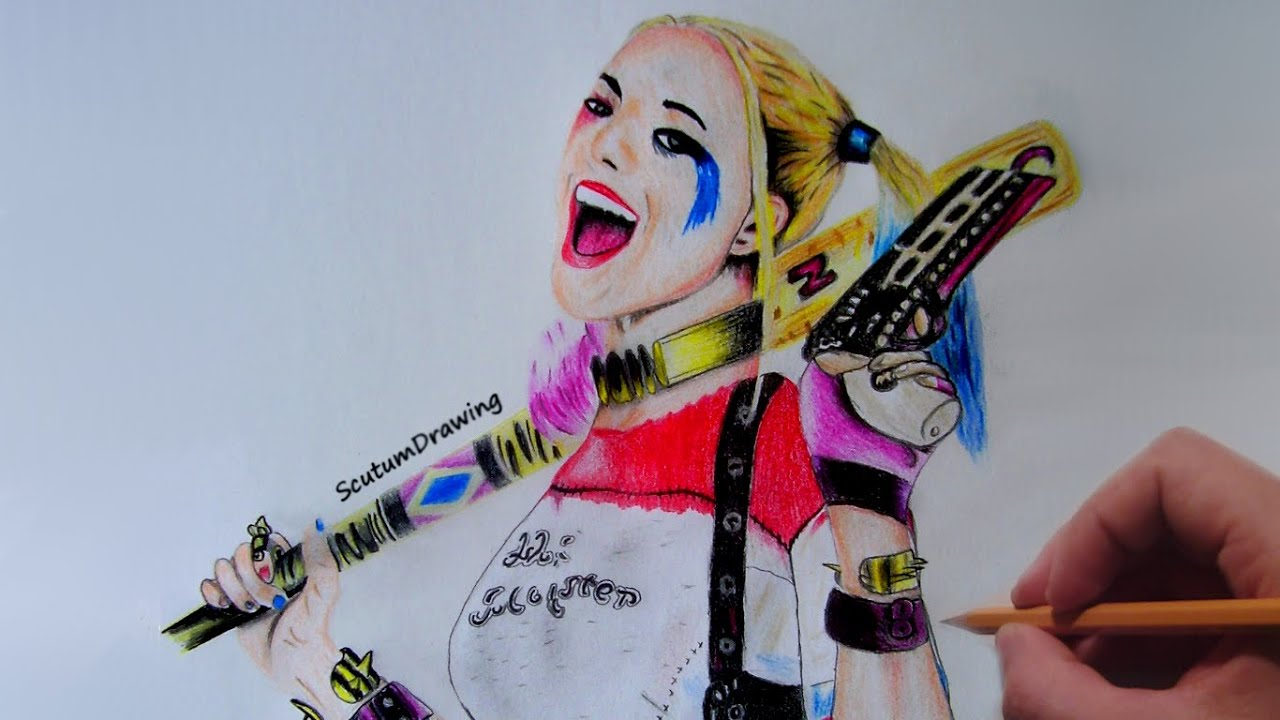 Quinn Drawing: Suicide Squad