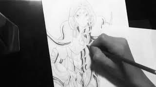 Speed drawing Knights of the Zodiac Mu Aries / Los Caballeros Del Zodiaco Dibujo Mu de Aries