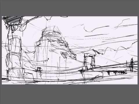 Alien Landscape Drawing