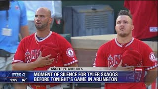 Los Angeles Angels play for first time since unexpected death of pitcher Tyler Skaggs