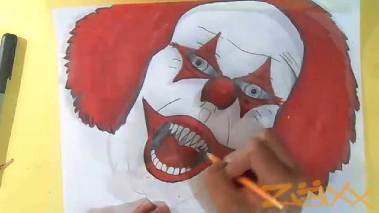 Disegno carattere pagliaccio graffiti youtube - Come disegnare immagini di halloween ...