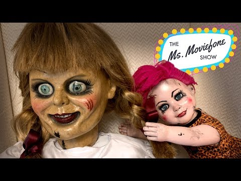 A Creepy Doll Interviews 'Annabelle Comes Home' Stars! | The Ms. Moviefone Show