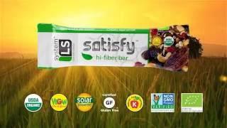 Satisfy - Organic High Fiber Bar by SystemLS