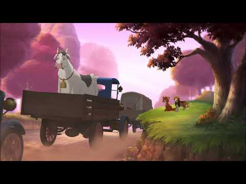 THE FOX AND THE HOUND 2 HD- (COPPER & TOD WATCH THE CARS PASS)