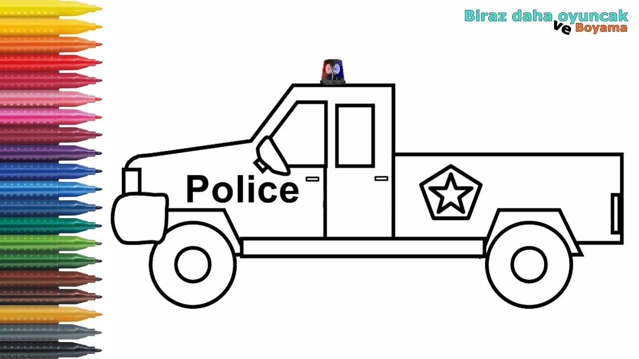 Polis Arabasi Boyama Sayfasi Cizip Boyama Videolari Boyama