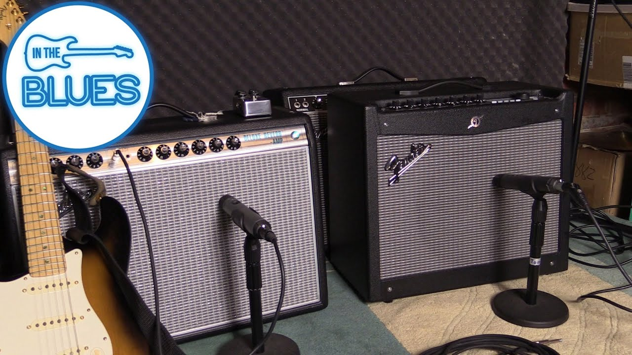 blind test - fender '68 custom deluxe vs fender mustang iii - youtube